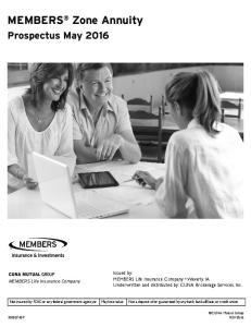 MEMBERS Zone Annuity. Prospectus May 2016