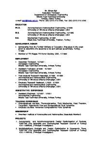 MEMBERSHIP American Institute of Aeronautics and Astronautics (Associate Member)