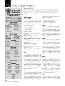 Membership Application. Elmira Kennel Club. Delegates Credentials