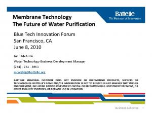 Membrane Technology The Future of Water Purification