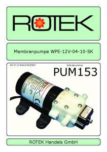 Membranpumpe WPE-12V SK