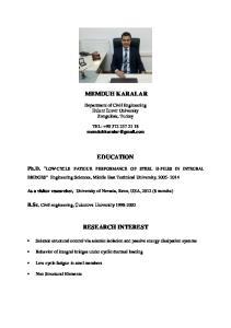 MEMDUH KARALAR EDUCATION RESEARCH INTEREST