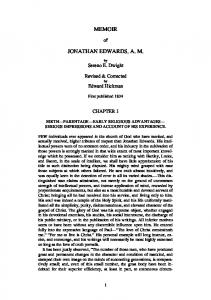 MEMOIR JONATHAN EDWARDS, A. M