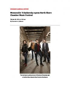 Memorable Tchaikovsky opens North Shore Chamber Music Festival
