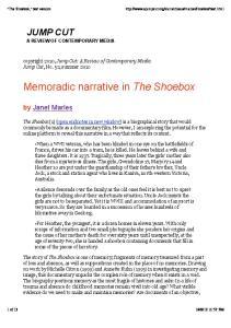 Memoradic narrative in The Shoebox