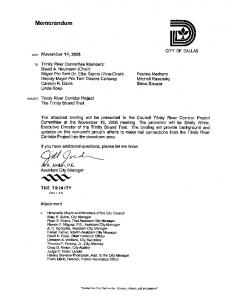 Memorandum. JVA. Jordan, P.E. Assistant City Manager CITY OF DALLAS