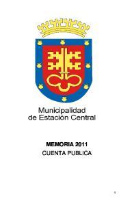 MEMORIA 2011 CUENTA PUBLICA