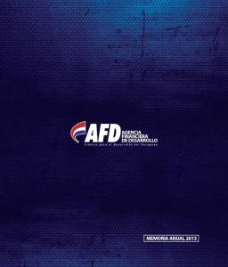 Memoria Anual Agencia Financiera de Desarrollo 1