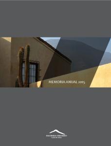 MEMORIA CORPORACIóN HACIENDA CHICUREO CLUB