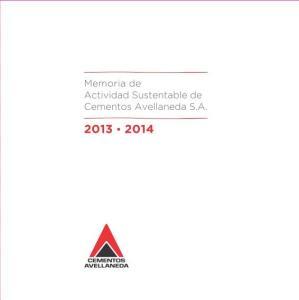 Memoria de Actividad Sustentable de Cementos Avellaneda S.A