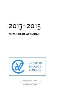 MEMORIA DE ACTIVIDAD