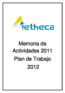 Memoria de Actividades 2011