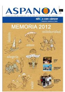 MEMORIA DE ACTIVIDADES Ejercicio 2012