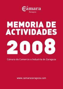 MEMORIA DE ACTIVIDADES. Memoria de actividades