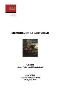 MEMORIA DE LA ACTIVIDAD