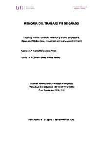 MEMORIA DEL TRABAJO FIN DE GRADO