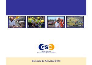 Memoria Memoria de Actividad 2013