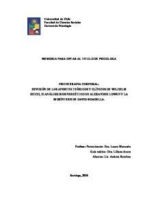 MEMORIA PARA OPTAR AL TITULO DE PSICOLOGA
