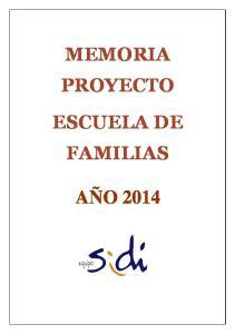MEMORIA PROYECTO ESCUELA DE FAMILIAS