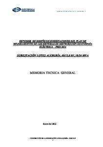 MEMORIA TECNICA GENERAL