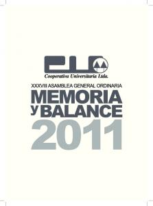Memoria y Balance 2011