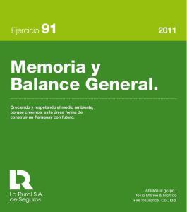 Memoria y Balance General