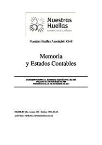 Memoria y Estados Contables