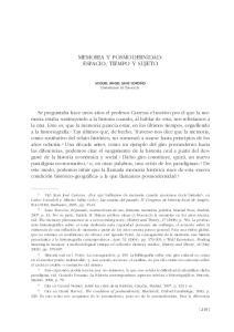 MEMORIA Y POSMODERNIDAD: ESPACIO, TIEMPO Y SUJETO