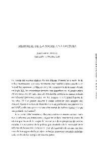 MEMORIAL DE LA NOCHE: UNA LECTURA
