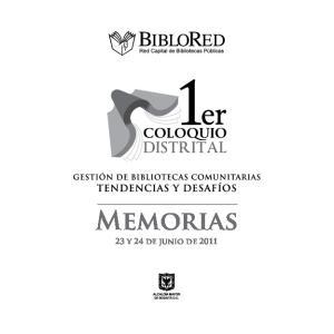 Memorias 23 y 24 de junio de 2011