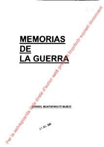 MEMORIAS DE LA GUERRA