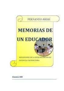 MEMORIAS DE UN EDUCADOR