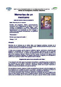 Memorias de un mexicano