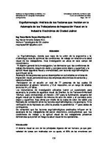 Memorias del VII Congreso Internacional 3 al 5 de noviembre del 2005 de Ergonomía Pags