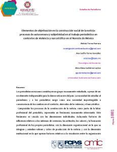 MEMORIAS Estudios de Periodismo