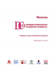 Memorias. Presente y Futuro del Derecho Comercial