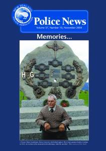 Memories... Volume 37, Number 10, November 2004