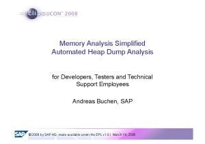 Memory Analysis Simplified Automated Heap Dump Analysis