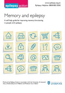 Memory and epilepsy. A self help guide for improving memory functioning in people with epilepsy