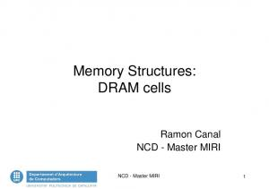 Memory Structures: DRAM cells