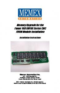 Memory Upgrade for the Fanuc 16B (0010) Series CNC FROM Module Installation