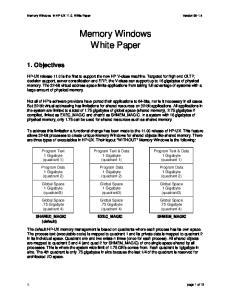 Memory Windows White Paper
