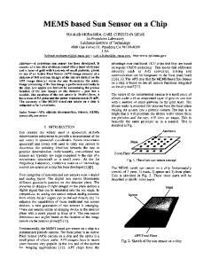MEMS based Sun Sensor on a Chip