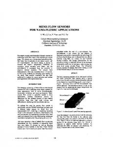 MEMS FLOW SENSORS FOR NANO-FLUIDIC APPLICATIONS