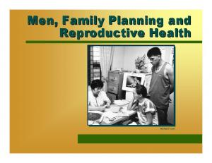 Men, Family Planning and Reproductive Health. Richard Lord