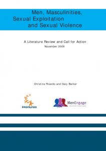 Men, Masculinities, Sexual Exploitation and Sexual Violence re
