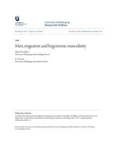 Men, migration and hegemonic masculinity