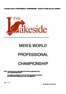 MEN S WORLD PROFESSIONAL CHAMPIONSHIP