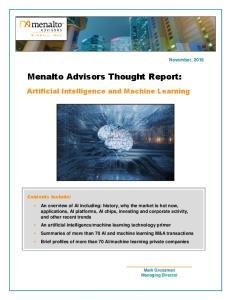Menalto Advisors Thought Report: