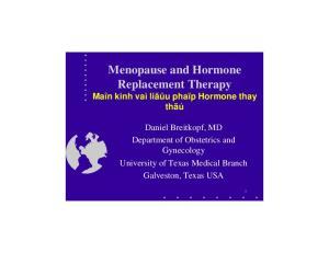 Menopause and Hormone Replacement Therapy Maîn kinh vaì liãûu phaïp Hormone thay thãú